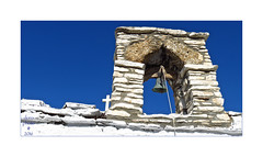 Samos, GR ( doro 51 ) Tags: samos gr kapelle chapel weiss white blau blue mauer wall glocke bell dorophoto 2016
