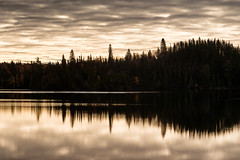 'First Light' (Canadapt) Tags: sunrise lake reflection autumn fall shoreline clouds trees keefer canadapt