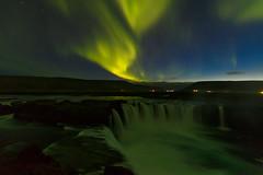 Aurora over Godafoss (Rodney Topor) Tags: aurora godafoss iceland landscape sky waterfall longexposure nightshot nightsky auroraborealis northernlights canonef1635mmf4lisusm