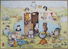 Crazy Cats at the Caravan (Linda Jane Smith) (Leonisha) Tags: puzzle jigsawpuzzle crazycats ravensburger comical katze cat