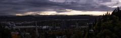 at least the view is nice (sebboh) Tags: sonya7 zeissleicafrankenlens carlzeisscontaxg90mmf28sonnar willametteriver sunrise ohsu portland oregon pdx autumn fall mthood rossislandbridge tram gondola cityscape