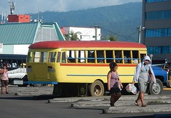 Bus and Locals (mikecogh) Tags: apia samoa bus locals hoodie shopping