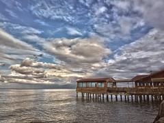 The restaurant on the pier (HDR) (yasinoplz) Tags: restaurant ordu md pier wharf cloud sea blacksea karadeniz hdr