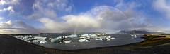 Rainbow at Jkulsrln (Nick L) Tags: jkulsrln jokulsarlon iceland icelandic icelagoonatjokulsarlon icelagoonatjkulsrln rainbow panorama canon eos 5d3 5d 5dmarkiii eos5dmark3 canonef1124lf4 icebergs wow