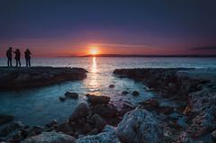 watching the sunset (Marco Brunetti) Tags: plemmirio syracuse sicily sea seascape sunset red blu sun pentaxk30 mefotoroadtrip formatthitech