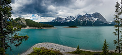 Kananaskis Country (NettyA) Tags: 2014 alberta canada canadianrockies kananaskiscountry northamerica sonynex6 upperkananaskislake clouds lake landscape mountains pano panorama travel