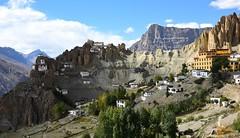 Dhankar Gompa, India 2016 (reurinkjan) Tags: india 2016 janreurink himachalpradesh spiti kinaur ladakh kargil jammuandkashmir dhankargompa dankhar drangkhar dhangkargompa brangmkhar grangmkhar himalayamountains himalayamtrange himalayas landscapepicture landscape landscapescenery mountainlandscape tibetan architecture tibetanarchitecture
