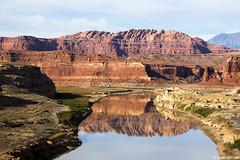 Colorado River Reflections (isaac.borrego) Tags: desert mesa canyon rocks glencanyon recreationarea utah canonrebelt4i coloradoriver reflection