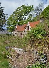 Old Boat Old House.. (Harleynik Rides Again.) Tags: abandoned house woodenboat ruin overgrown urbex glenelg scotland nikondf harleynikridesagain