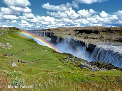 Iceland: Dettifoss waterfall (HDR) (mariofalcetti) Tags: iceland islanda dettifoss waterfall water landscape rainbow arcobaleno omot