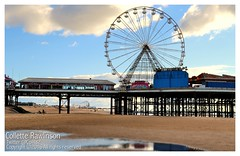 All rights reserved Collette Rawlinson (Collette Rawlinson) Tags: blackpool tower day out october 2016 seaside sea sky blue happiness front prom walk fairground fun fair arcade amusement race horse penny push prize pier under boardwalk wheel