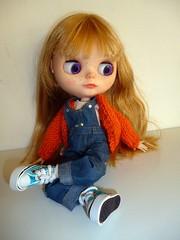 Blythe custom rubia naranja