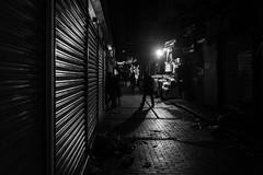 I let my feet lead me  / another day gone (zgr Grgey) Tags: 2016 35mm bw d750 darkcity eminn nikon samyang architecture evening lines lowlight shadow street istanbul turkey