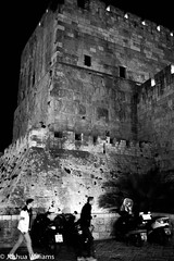 DSCF9657 (Joshua Williams' Photography) Tags: jerusalem israel bw night oldcity
