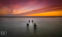 Posts (ianbrodie1) Tags: longexposure northumberland cambois beach posts sunset cloudsstormssunsetssunrises cloud colourful sea seascape water nikon haida d750 north coast coastline