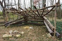 Half-faced Cabin (McConnell Springs) Tags: mcconnellspringspark lexingtonky logstructure halffacedcabin leanto