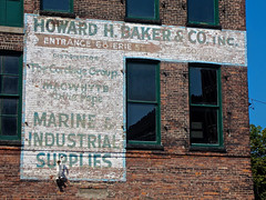 Howard H. Baker & Co., Buffalo, NY (Robby Virus) Tags: buffalo newyork ny state upstate howard baker ship chandlery chandler business company faded ghost sign signage painted wall brick ad advertisement harbor museum nautical boats sailing sails ropes marine supply suppliers