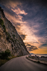 Driving to Heaven (Vagelis Pikoulas) Tags: canon 6d tokina 1628mm view landscape sea street rock rocks road sun sunset clouds cloud cloudy psatha greece europe autumn 2016