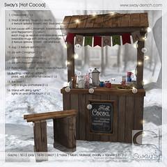 Sway's [Hot Cocoa] Key | The Arcade (Sway Dench / Sway's) Tags: arcade gacha bench hot cocoa chocolate winter cold cocoastand virtual secondlife sl sways