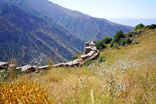 Old ruins in the Armenian mountains, Smbataberd, Vayots Dzor