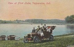 "US IN Valparaiso IN 1910 FLINT LAKE on the Gary & Interurban electric line and on a Macadam Auto Road a Sunday drive or FLINT LAKE SUMMER RESORT VACATION DAYS FAMILY FUN Porter County1 (UpNorth Memories - Donald (Don) Harrison) Tags: vintage antique postcard rppc ""don harrison"" ""upnorth memories"" upnorth memories upnorthmemories michigan history heritage travel tourism ""michigan roadside restaurants cafes motels hotels ""tourist stops"" ""travel trailer parks"" campgrounds cottages cabins ""roadside entertainment"" ""natural wonders"" attractions usa puremichigan "" ""railroad ferry"" ""car excursion"