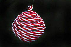 Christmas countdown (crafty1tutu (Ann)) Tags: christmas baubles decoration decorations bauble ornament merrychristmas thecountdownison countdown red white stripes candystripe blackbackground christmaswishes noel happyholidays crafty1tutu canon1dx canon24105lserieslens anncameron pattern