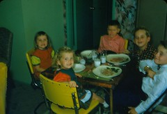 Saying Cheese - 12-25-1954 (kimstrezz) Tags: 1954 terryandpatsslides pat peggy kevinshaughnessy mike jerry downey
