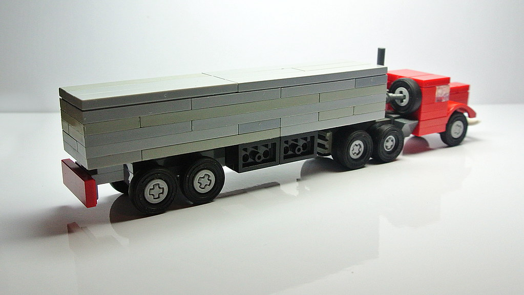 how to build a lego semi truck and trailer