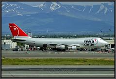 N632US Northwest Airlines NWA Cargo (Bob Garrard) Tags: n632us northwest airlines nwa cargo boeing 747 anc panc kosc n790ck kalitta