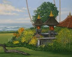 Pura Dalem Segara II (luis_colan) Tags: bali indonesia painting pleinair oilpainting landscape art artwork luiscolan