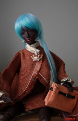 Oamra Parisian visit (sevader.w) Tags: bjd msd yosd alphadolls ebony black custom paris parisian doll tweed handbag