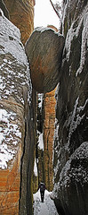 Teplicke skaly 6 (Vid Pogacnik) Tags: czechrepublic czechia teplice teplickeskaly teplicerocks sandstone sandstones rocks rocktowers rockformations naturalparc hiking outdoor landscape nature gorge climbing climbingarea winter