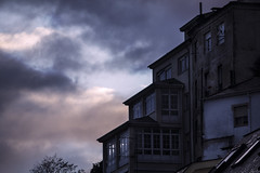 Ribadeo (Miguel Pintor) Tags: ribadeo sunset cold blue building window lugo galicia