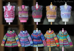 (Ulanna) Tags: blythe knitting handmade outfit clothes sweater cardigan pullover jersey jacket vest