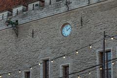 Tallinn Town Hall Clock (AudioClassic) Tags: tallinntownhall clock christmasmarket square spruce tree estonia tallinn medieval medievaltown people architecture buildingexterior house wall balticcountries december holydays
