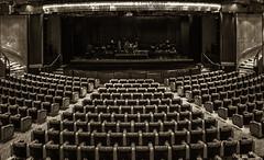 In The Theater (Bernai Velarde-Light Seeker) Tags: theater bw byn teatro seats sillas rows hileras stage sepia bernai velarde butacas escenario