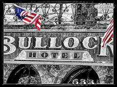 Aug 2009 Sturgis - Deadwood Bullock Hotel during Sturgis motorcycle rally (lazy_photog) Tags: lazy photog elliott photography bullock hotel deadwood south dakota selective color sturgis motorcycle rally black hills