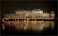 Schloss Belvedere (Wien) (Dobromir Dimov) Tags: austria wien vienna night architecture sterreich schlossbelvedere belvederepalace palace schloss belvedere lake