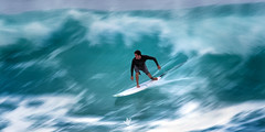 Rip (santosh_shanmuga) Tags: water sport outdoor surreal surf surfing ocean swell waves tube pipe pipeline bonzai oahu north shore billabong pipemaster masters nikon d4 500mm wsl surfer surfboard blur slow shutter speed rip wave