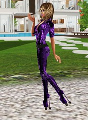 Wet in High Heeled Roller Skates (SoakinJo) Tags: soakinjo highheels rollerskates imvu highheeledrollerskates wetlook wetclothes wetjeans extremeheels