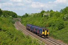FGW 150239 @ Frome (Sicco Dierdorp) Tags: uk firstgreatwestern westbury frome dmu fgw class150 grootbrittannië berkshants