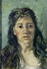 van Gogh - Head of a prostitute [1885] (petrus.agricola) Tags: art amsterdam museum project google high image head vincent gap prostitute resolution van gogh ultra nuenen