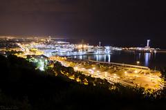 Nocturna de Barcelona (Damin G.) Tags: barcelona city longexposure light sky night dark luces noche nikon ciudad cielo nocturna montjuic nocturno largaexposicin imagenotfound d7000