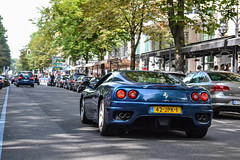 Ferrari 360 Modena (Shoarmapapa (Kevin Wellens)) Tags: blue 360 ferrari modena dusseldorf supercar supercars