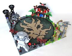 Ninjago Dragon Arena (Imagine) Tags: statue dragon lego mosaic arena warrior minifig dojo skeletons ninjas commission snakes imaginerigney artifexcreation ninjago