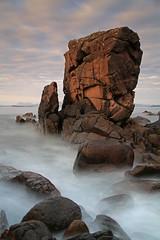 A wee stac near Opinan. (Gordie Broon.) Tags: longexposure sea seascape geotagged scotland scenery rocks alba scenic escocia stac coastline peninsula schottland westerross ecosse suilven scozia laide scottishhighlands 24105l mellonudrigle opinan theminch scottishwesternhighlands gordiebroonphotography canon5dmklll haida10stop