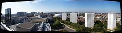Broad Street and Beyond (tim ellis) Tags: uk autostitch panorama birmingham nia icc symphonyhall sealifecentre hyatthotel internationalconventioncentre nationalindoorarena libraryofbirmingham birninghamrep