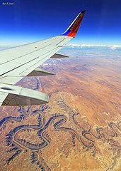 High above the Canyonlands (G.E.Condit) Tags: travel sky southwest landscape utah flying desert jet greenriver canyonlands goblinvalley greatbasindesert