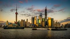 Huangpu Curve (Rob-Shanghai) Tags: china sky colour tower skyscraper river boats asia cityscape shanghai panoramic pearl  pudong ifc bund jinmao huangpu cv21mmf4 leicam9