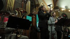 Music before Valerie Plame (Westminster Town Hall forum) Tags: westminster cia forum perspective minneapolis spy speaking presbyterian blowback ethical presbyterianchurch pablojones westminstertownhallforum